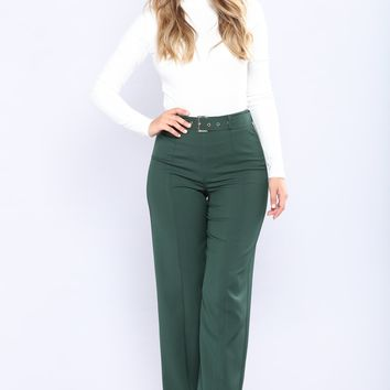Mataro Wide Leg Pants - Hunter