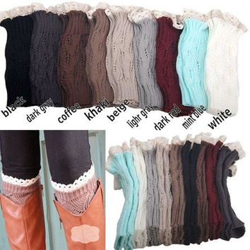 ac DCK83Q Hot Deal On Sale Socks Ladies Lovely Hollow Out Leaf Lace Knit Boots [110448181273]