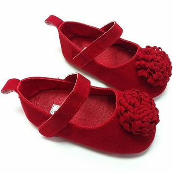 Festival Flower Baby Shoes Newly Born Infant Baby Girls First Walkers