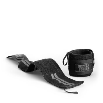 Better Bodies Black Elastic Wrist Wraps
