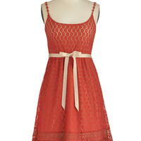 Ryu Boho Mid-length Spaghetti Straps A-line Pretty as Poppies Dress