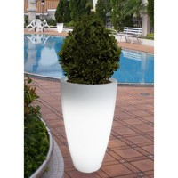 Bon Decor Illuminated Planter - Clear - 17 diam. x 32H in. | www.hayneedle.com