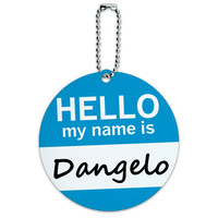 Dangelo Hello My Name Is Round ID Card Luggage Tag