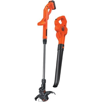 "Black And Decker 20-volt Lithium 10"" String Trimmer And Edger & Hard Surface Sweeper Combo Kit"