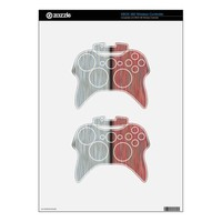 Retro Bicolor Thin Wood Panel. Grunge Pattern Xbox 360 Controller Decal from Zazzle.com