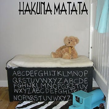 Hakuna Matata Words Decor Wall Mural Vinyl Decal Sticker AL552