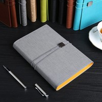 A5 Business Notebook Blank Meeting Diary Journal Gift Loose-leaf Spiral Bound Waterproof Cover with Pen
