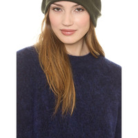 Warehouse Knitted Beanie Hat in Green