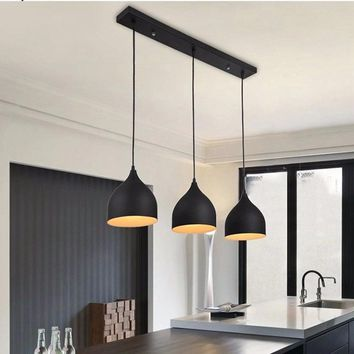 Modern Ceiling Lamp Light Metal Pendant Lighting Fixtures for Home Restaurant Dining Room Kitchen Decor E27 110~220V