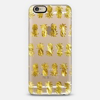 Golden Pineapple Stripes (transparent) iPhone 6 case by Lisa Argyropoulos | Casetify