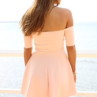 SABO SKIRT  Peach Audrey Dress - $48.00