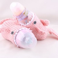 Baby Bottle Monster Shark with tail in Pink