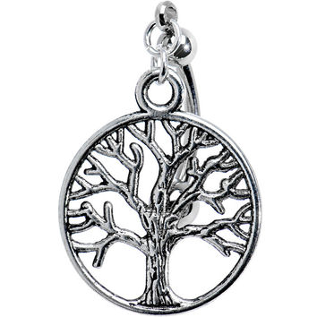 Top Mount Tree of Life Belly Ring