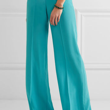 Etro - Silk crepe de chine wide-leg pants