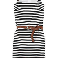 MICHAEL Michael Kors | Striped stretch-jersey dress | NET-A-PORTER.COM