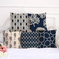 Nautical Print Pillow Covers