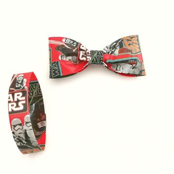 Fun Boy's Red Bow Ties For Toddlers, Star Wars Clip On Bow Tie