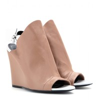 balenciaga - glove leather wedges