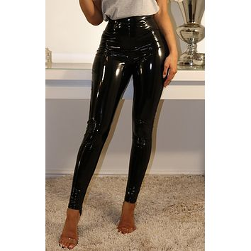 Patent Leggings Black
