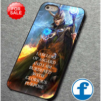 I Am Loki Of Asgard Avengers for iphone, ipod, samsung galaxy, HTC and Nexus Case