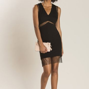 Natalie Black Lace Detail Dress