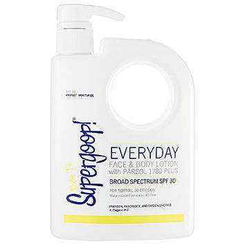 Supergoop! Everyday Face & Body Lotion With Parsol 1789 Plus Broad Spectrum SPF 30 (Endless Summer Pump) (18 oz)