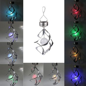 Color Changeable Wind chimes LED Lamp Solar Powered Waterproof Outdoor Garden Yard Party Decoration Hanging Lamps Solar Lamp