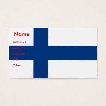 Business Card with Flag of Finland