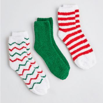 Plush Holiday Sock Set