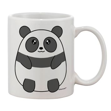 Cute Panda Bear Printed 11oz Coffee Mug by TooLoud