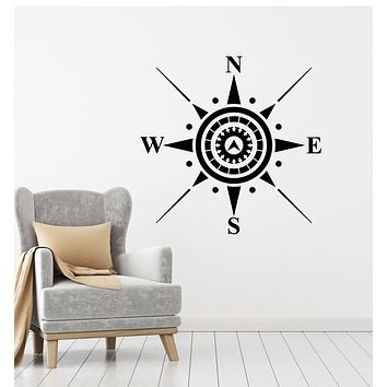 Vinyl Wall Decal Wind Rose Compass Sea Nautical Decor Stickers Mural (g798)