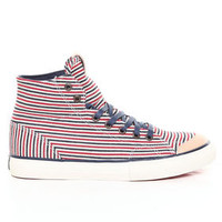 DJPremium.com - Men - Shop by Brand - The Hundreds - Shoes - Sneakers - Valenzuela High Hickory Stripe Denim Sneakers