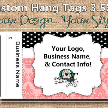 Boutique Print Custom Hang Tag Business Card Style Printing  Matte  3.5 x 2 inch cards Design services available Sales Tags Shop Tags