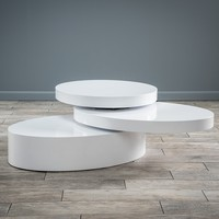 Kendall Oval Mod Swivel Coffee Table