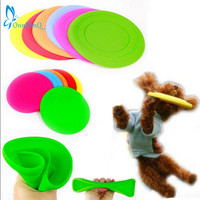 OnnPnnQ Fantastic Pet Dog Flying Disc Tooth Resistant Training Toy Play Frisbee Tide