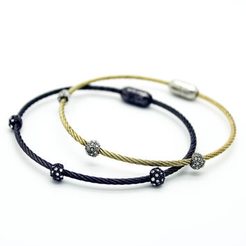 Cutie stone bangle bracelet