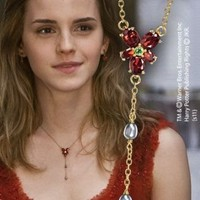 Hermione`s Red Crystal Necklace Replica from Harry Potter and The Deathly Hallows