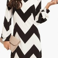 Black & White Chevron Chic Dress