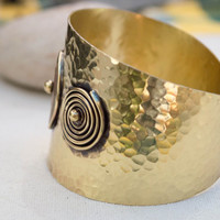 Ancient greek cuff bracelet,  Ancient greek jewelry, Brass cuff bracelet,Gold cuff bracelet,Hammered brass bracelet,Adjustable gold bracelet