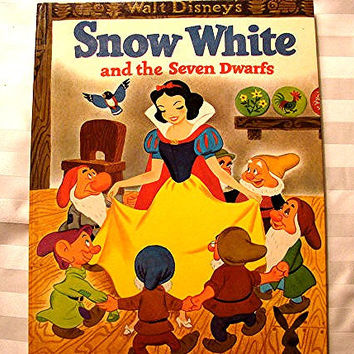 Vintage Big Golden Book Snow White and the Seven Dwarfs 1960s