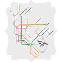 Restudio Designs NYC Subway Map Quatrefoil Magnet Board