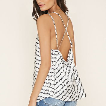 Cutout Back Watercolor Top