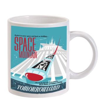 Gift Mugs | Vintage Disney Poster Space Mountain Ceramic Coffee Mugs