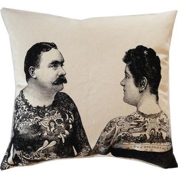 Tattoo Couple Pillow