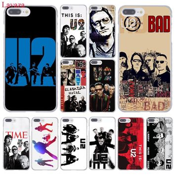 Lavaza U2 Bono Joey Ramone band Hard Coque Shell Phone Case for Apple iPhone 8 7 6 6S Plus X 10 5 5S SE 5C 4 4S Cover