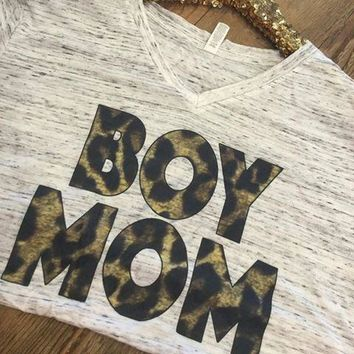 Leopard BOY MOM T-Shirt