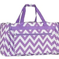 "Womens 17"" Printed Duffel Bag (Chevron - Grey, One Size)"