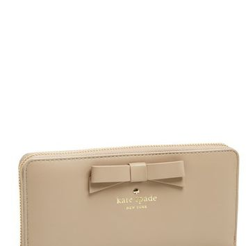 Women's kate spade new york 'tallow court - lacey' leather zip around wallet