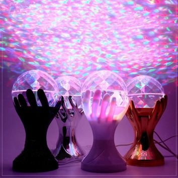 Five Finger World Cup palm Stage Lights Various angles rotate automatically Romantic lamp atmosphere effect Party,Disco,Club,DJ