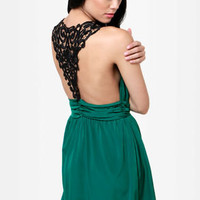 Embroid-ee of the Month Green Lace Dress